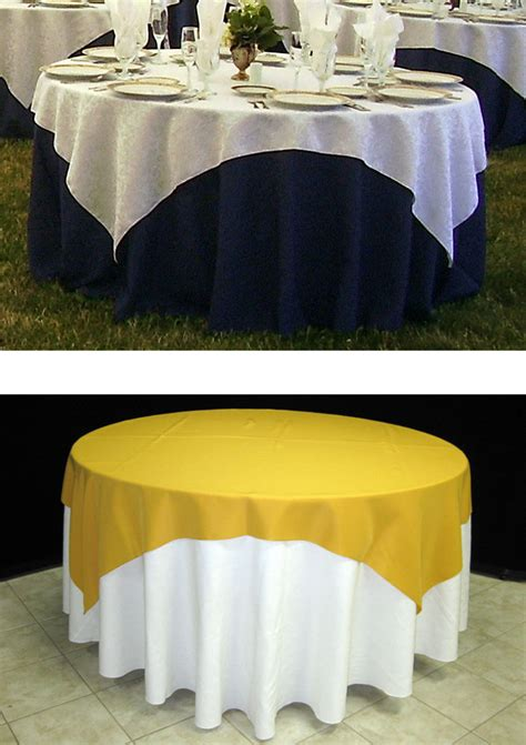 what size overlay for 72 table how to choose the right table linen size for your wedding