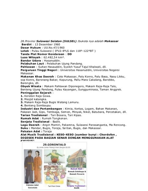 nama 33 provinsi di indonesia lengkap dengan pakaian gambar rumah adat tolaki gambar oz