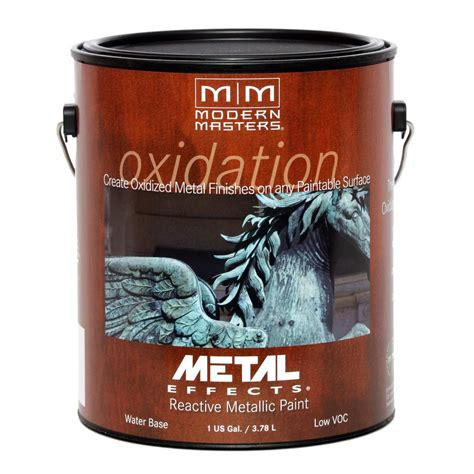 home depot paint effects modern masters 1 gal metal effects oxidizing copper paint