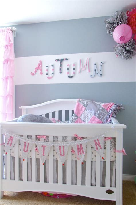 Pink And Gray Nursery Decor Autumn S Gray And Pink Nursery Project Nursery