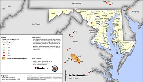 maryland earthquake map the great southeast shakeout maryland
