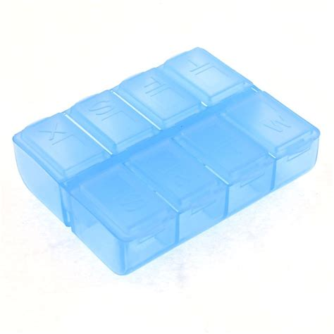 Plastic Medicine Box plastic rectangle 8 compartments 7 days medicine pill box