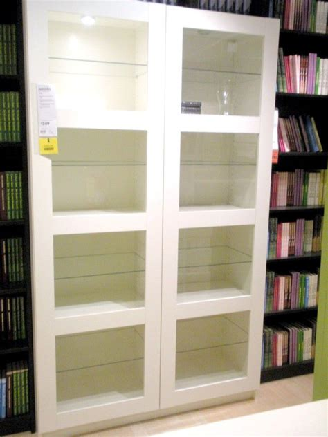 awesome ikea bookshelves with glass doors appealing new