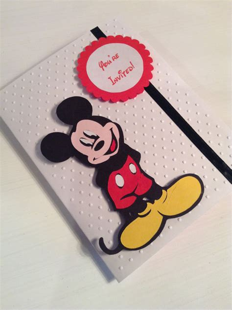 Mickey Mouse Handmade Invitations - alishakaydesigns handmade mickey mouse invitations