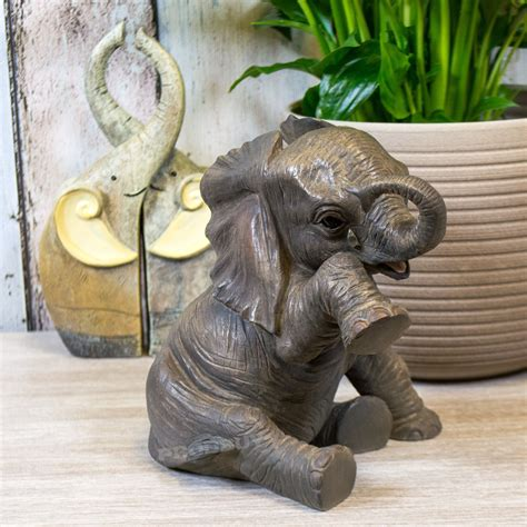 elephant home decor 15cm sitting elephant figurine ornament statue