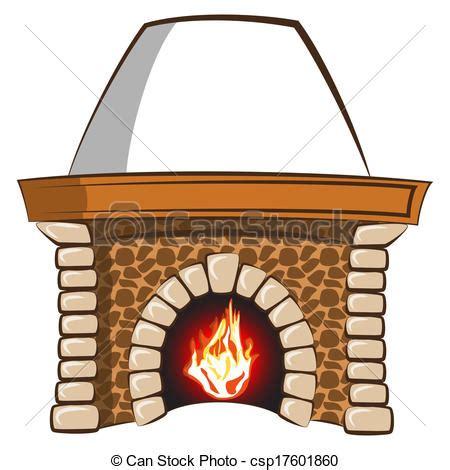 fireplace der clip clip vektor kaminofen stein kaminofen mit
