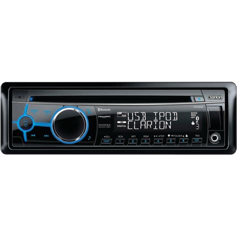 Port Usb Bluetooth clarion cz302 single din in dash cd mp3 wma receiver with