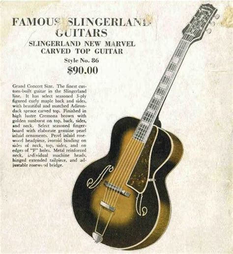 String History - guitar string history the pre war era