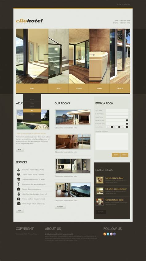 Guest House Website Template Web Design Templates Website Templates Download Guest House Guest House Website Templates Free