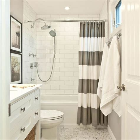 grey and white striped bathroom 25 best ideas about gray shower curtains on pinterest