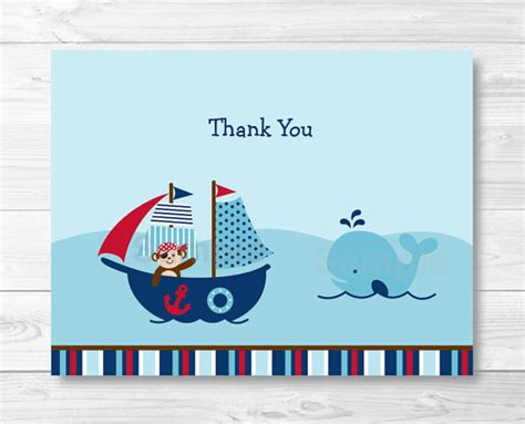 nautical thank you card template best photos of nautical whale free printable templates