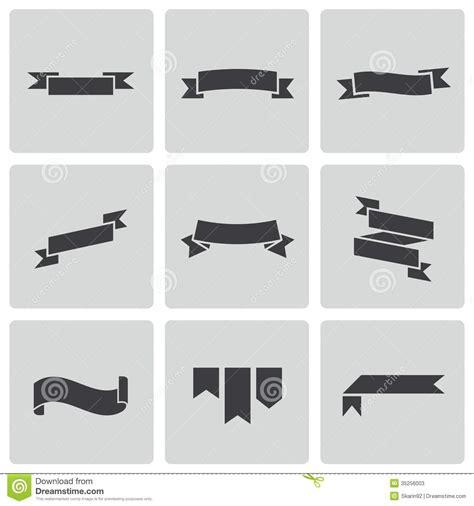 eps format till jpg vector black ribbon icons set stock vector illustration