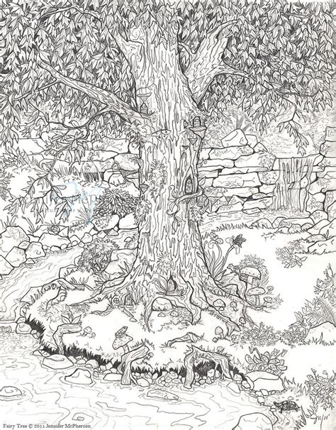 fairy tree drawing by jennifer mcpherson