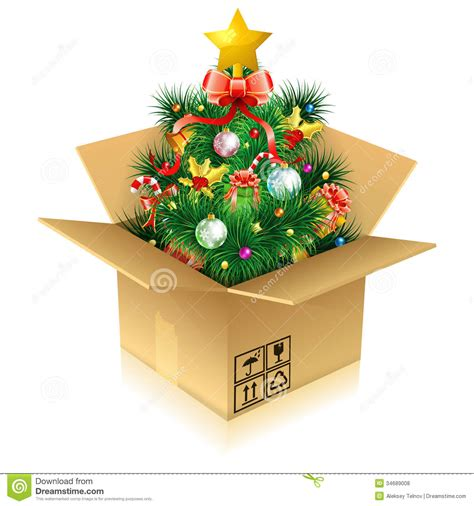 building a xmas tree box tree stock vector image of celebration 34689008
