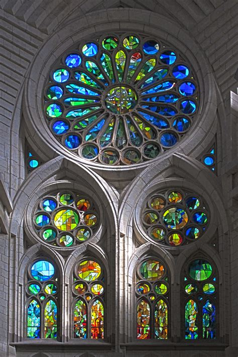Rose In Glass by Sagrada Familia Nativity Facade Stained Glass Window Flickr