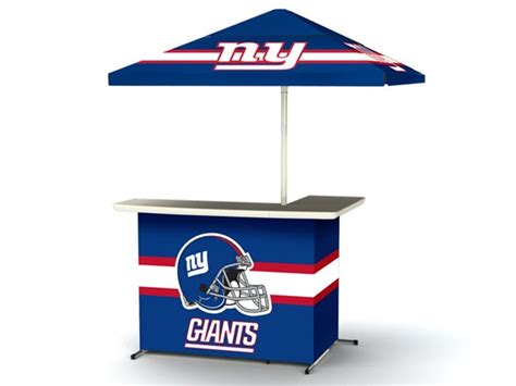 ny giants table l best of times nfl bar umbrella set woot