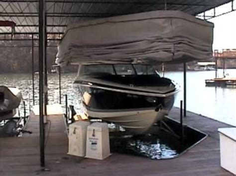 boat lift lake lanier lake lanier touchless boat cover youtube