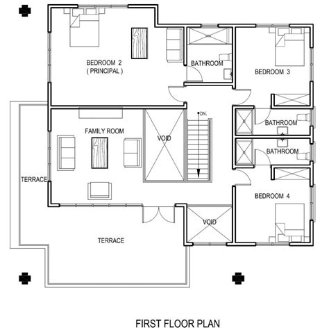 first floor house plans contemporary house plan 4 bedrooms 4 bathrooms home design