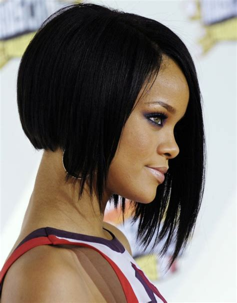 pulling medium black hair back blunt cut hairstyles with weave hairstyle ideas