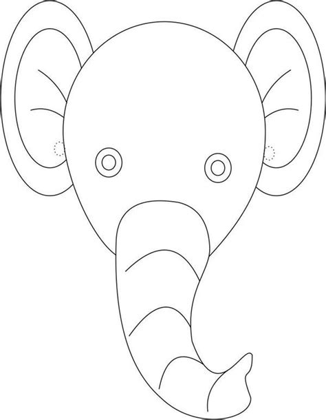 elephant mask coloring pages cute elephant mask coloring page coloring sky