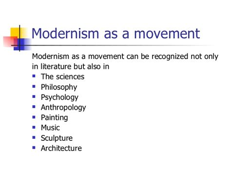 themes modernism literature modernism in literature