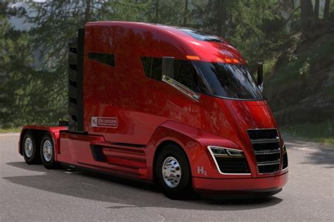 electric semi truck nikola one hydrogen range extended electric truck to be