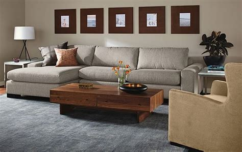 modern furniture room board townsend sofa with chaise room by r b modern living