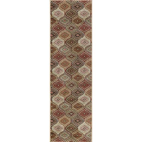 10 Ft Contemporary Rugs - tayse rugs dynasty multicolor 3 ft x 10 ft contemporary