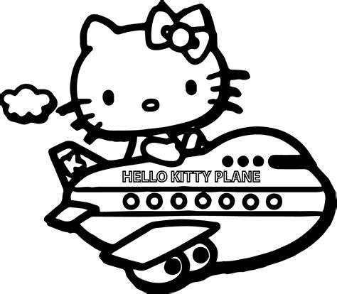 hello kitty airplane coloring page hello kitty rocking horse coloring page hello kitty