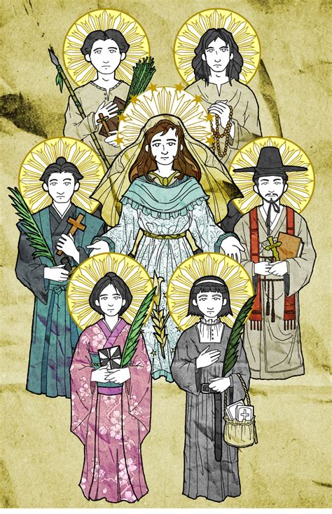St Miki the helianthus project artwork asian martyrs saints