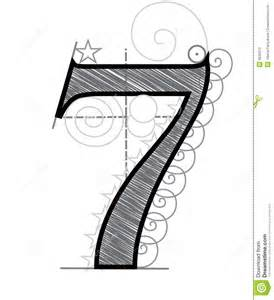 number 7 stock photography image 8035012