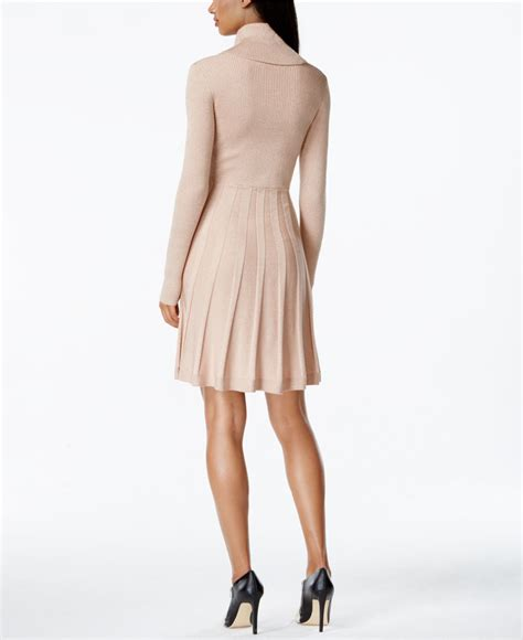 Fit Neck Sweater calvin klein cowl neck fit flare sweater dress in pink