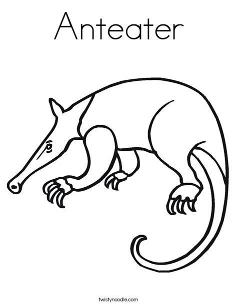 Anteater Coloring Page by Anteater Coloring Page Twisty Noodle