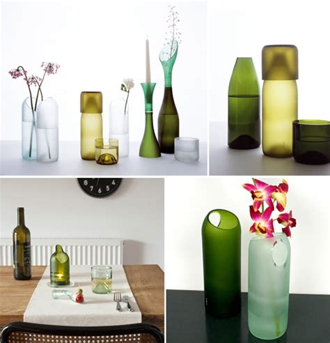 recycling home decorating ideas wine bottle recycling ideas furnish burnish