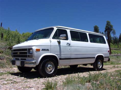 old car manuals online 1994 chevrolet sportvan g20 transmission control barn find 1994 chevrolet g20 van 3rd row 54k orig miles survivor
