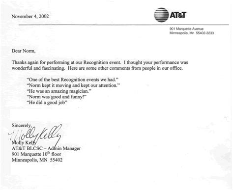 thank you letter to event staff motivational keynote speaker and comedian minneapolis