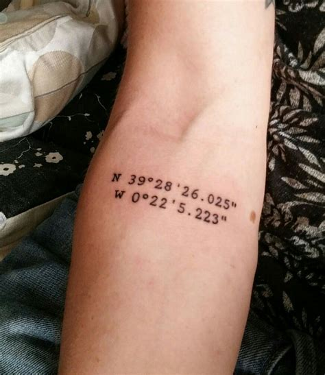tattoo coordinates my third got it in valencia spain these are the