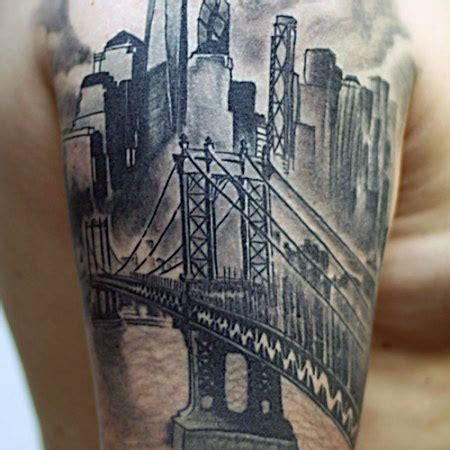 city tattoos designs 60 bridge tattoos for new york city design
