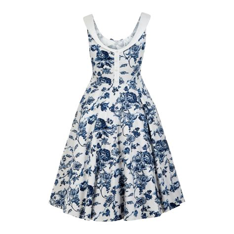 swing dress uk collectif vintage maddison toile floral print swing dress