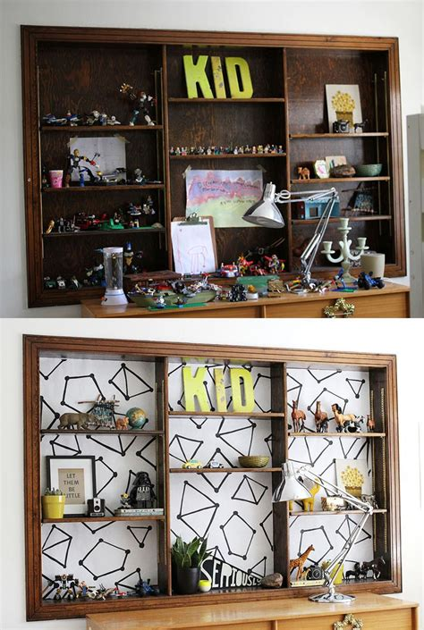 design your own bookshelf lining a beautiful mess