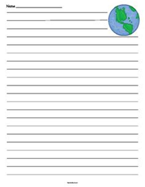 earth day writing paper earth day lined paper writing earth day