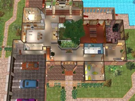 sims floor plans mod the sims house plan 5 sims pinterest sims