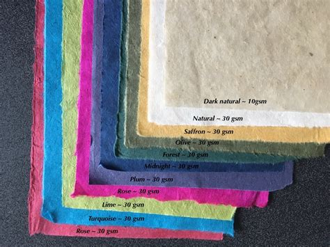Handmade Paper Uk Suppliers - half sheets nepalese mountain paper for crafts card