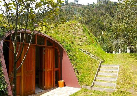 underground tiny house futuristic underground hobbit house by green magic homes