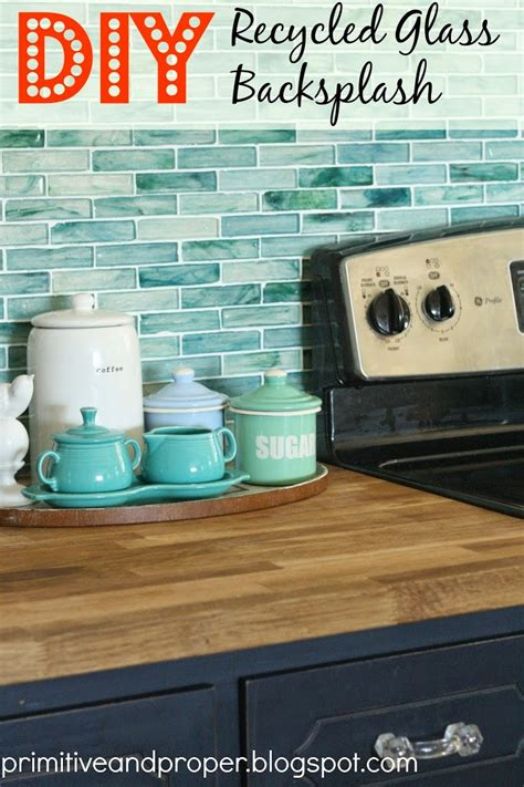 diy recycled glass backsplash with the tile shop