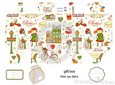 gift box template royalty free stock image image 32011976