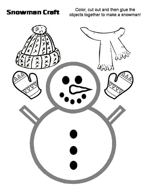 snowman  hat  scarf craft preschool education