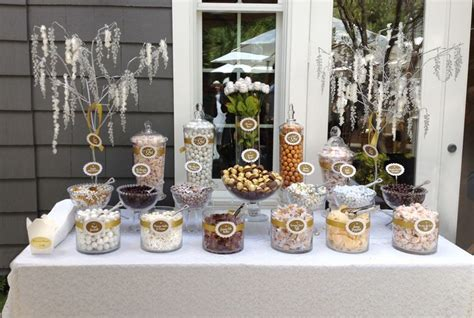 a neutral buffet i made for a but upscale 50th wedding anniversary in newport