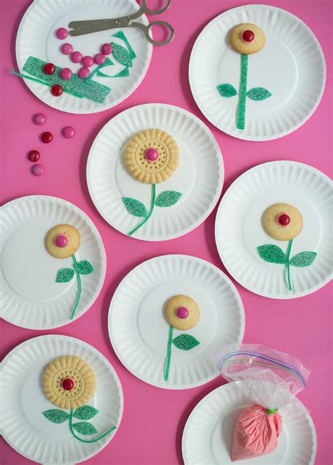 cookie crafts cookie flower craft make it