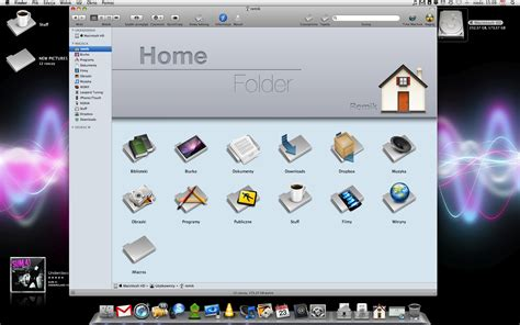 my actualy finder home folder by iremik on deviantart